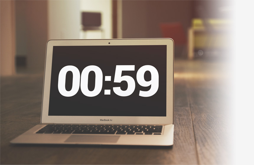 minimalistic timer features